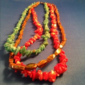 Jewelry - Multi-strand semi-precious stone necklace